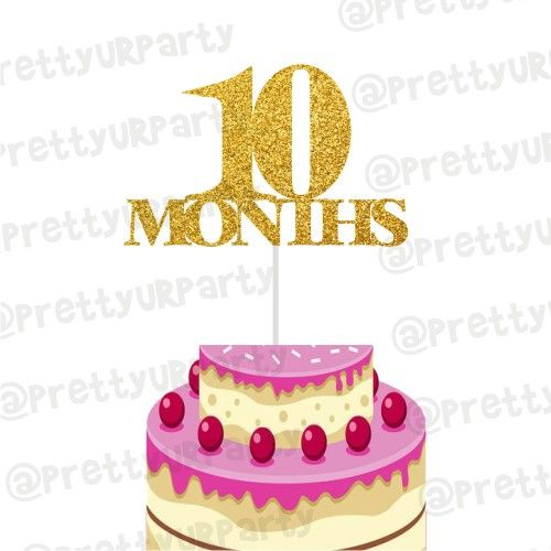 Pleasing 10 Months Cake Topper Personalised Birthday Cards Cominlily Jamesorg