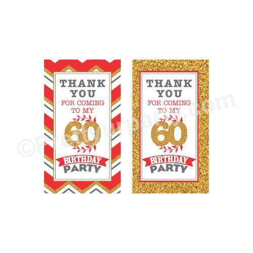 Outstanding 60Th Birthday Thankyou Cards 60Th Birthday Favor Tags Personalised Birthday Cards Veneteletsinfo