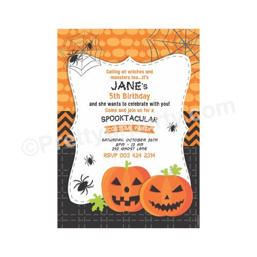Halloween Party Packages.Birthday Halloween Invitations Birthday Halloween Invites