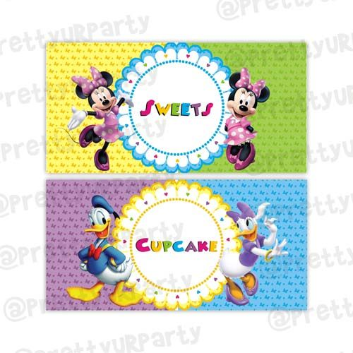 Minnie Mouse Clubhouse Inspired Food Labels