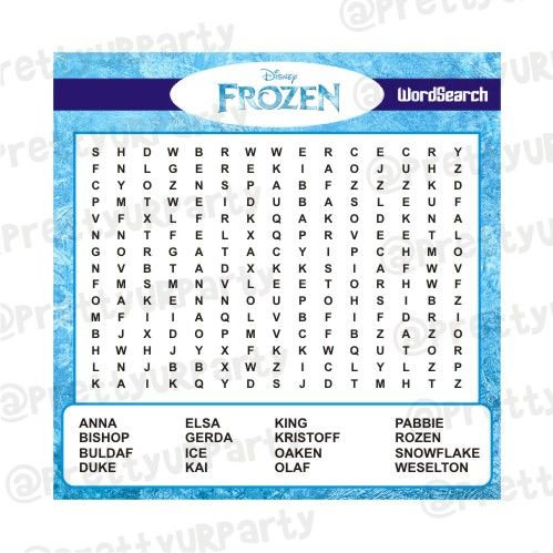 picture about Frozen Word Searches called Frozen Phrase Look Recreation