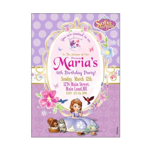 sofia the first snowflake invitations sofia the first snowflake