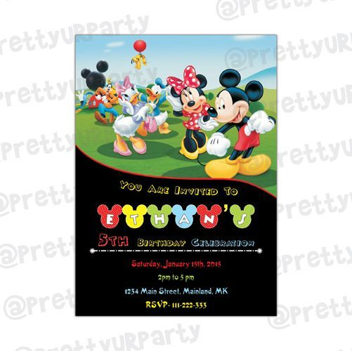 Mickey Mouse Clubhouse Theme E Invitations