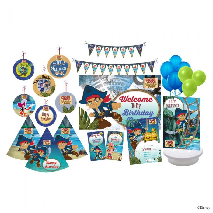 Awe Inspiring Captain Jake And The Neverland Pirates Party Package Funny Birthday Cards Online Elaedamsfinfo