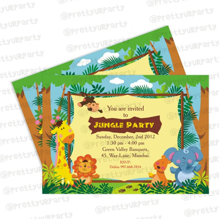 Jungle Theme Invitations Jungle Invites