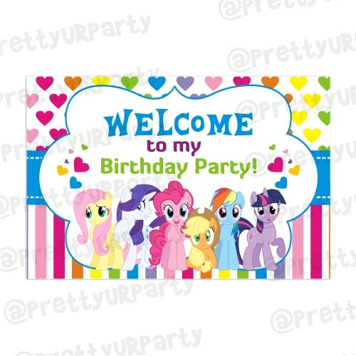 My Little Pony Personalized Birthday Banner