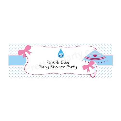 Personalised Pink And Blue Baby Shower Banner