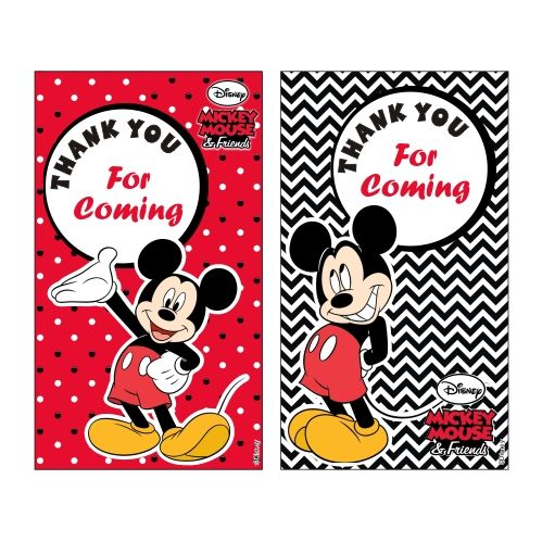 Mickey Mouse Thankyou Cards Mickey Mouse Favor Tags