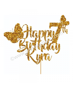 Personalized Butterfly Cake Topper