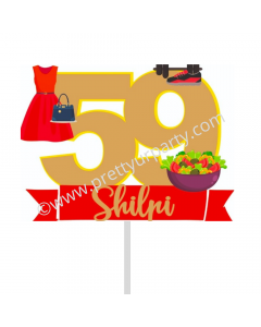 Fitness and Fashion Cake Topper
