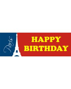 Happy Birthday Paris Banner