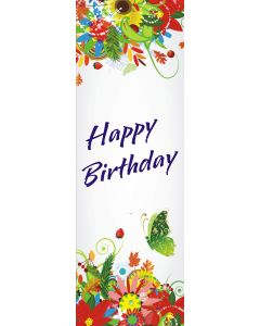 Happy Birthday Vertical Banner