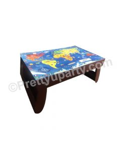 World Map Folding Bed Table