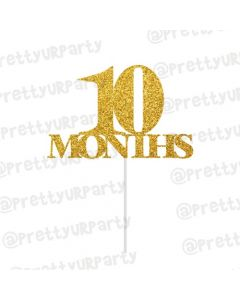 10 Months Cake Topper