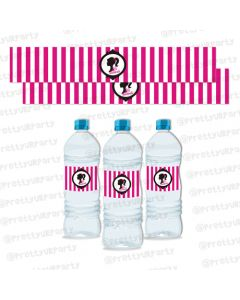 barbie  water bottle labels