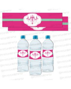 vintage glam water bottle labels