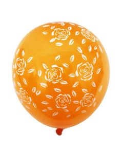 printed latex balloons - flowers