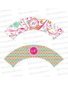 vintage glam cupcake wrappers