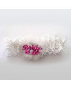 Bride To Be Garter White
