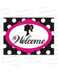 barbie entrance banner / door sign