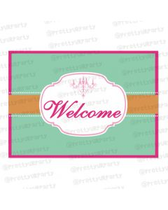vintage glam entrance banner / door sign
