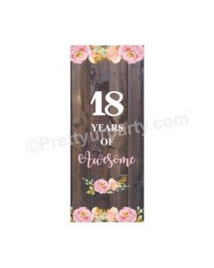 18th Birthday Theme Door Banner