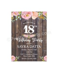 18th Birthday Theme Invitations