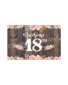 18th Birthday Theme Table Mats