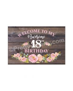 18th Birthday Theme Entrance Banner / Door Sign