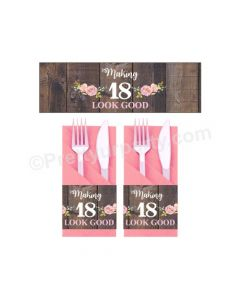 18th Birthday Theme Napkin Rings