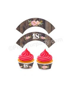 18th Birthday Theme Cupcake Wrappers