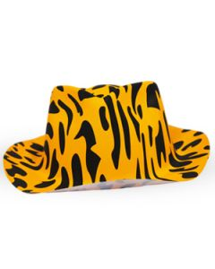 Orange Zebra Print Hat