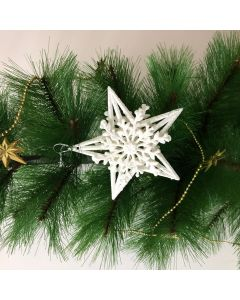 White Star Tree Decorations