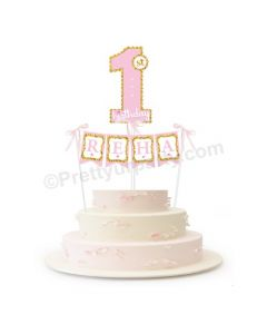 No. 1 Cake Topper and Cake Bunting