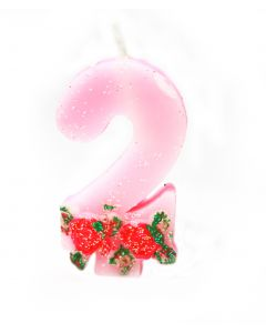 2 number Rose Candle