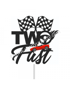 Two Fast Race Car Cake Topper