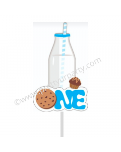 Milk and Cookies Cake Topper