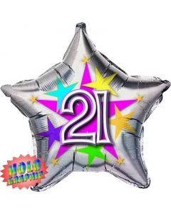 "Bobo Fun 18"" - Happy 21st Birthday Star Balloon"