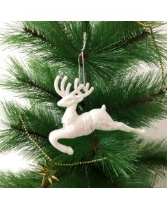 White Reindeer Christmas Tree Decorations