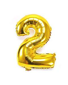 "Foil 2 Number Balloon 16"" - Gold"