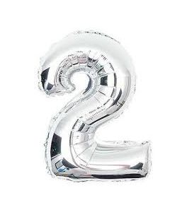 foil 2 number balloon