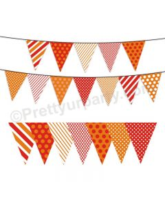Red and Orange Pattern Bunting