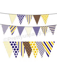 Blue and Yellow Pattern Bunting