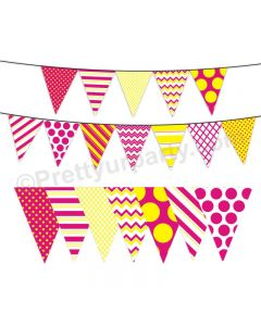 Pink and Yellow Pattern Bunting