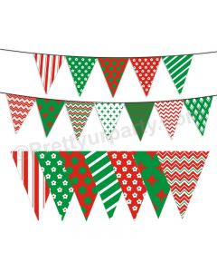 Red and Green Pattern Bunting