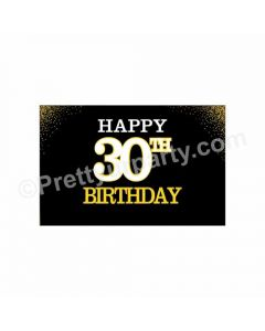 Gold And Black 30th Birthday Theme Table Mats