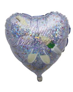 happy anniversary foil balloon