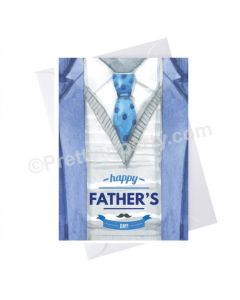 Father's Day Happy Fathers Day Tie Card - Blue