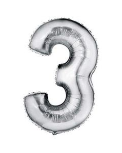 foil 3 number balloon