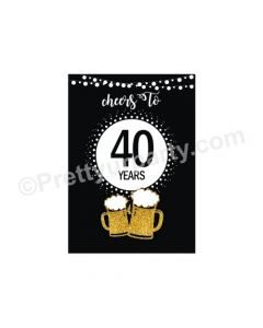 Cheers to 40th Birthday Theme Centerpieces